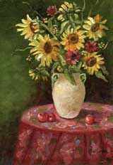 Sunflowers in a White Vase, Item 29